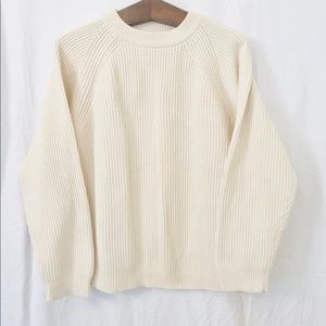 Vintage ribbed cotton sweater
